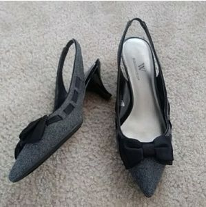 3for$10🎃Worthington | Black + gray heels